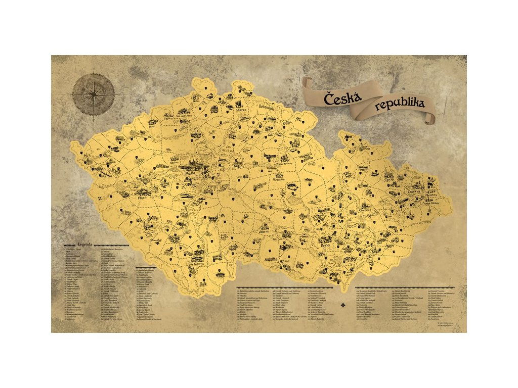 deluxe stiraci mapa cr zlata s darkovym tubusem xl