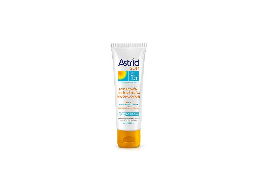 Astrid Sun OF 15, hydratační pleťový krém na opalování, 75 ml
