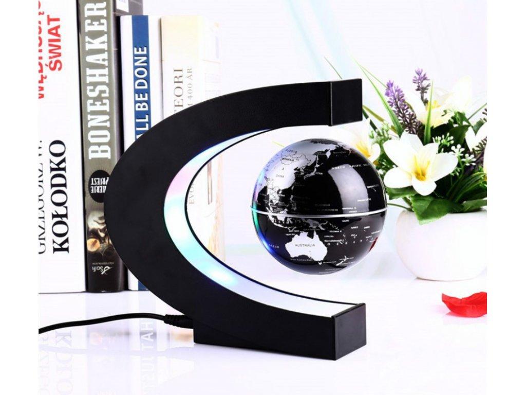 globe levitujici globus modry cerny 5