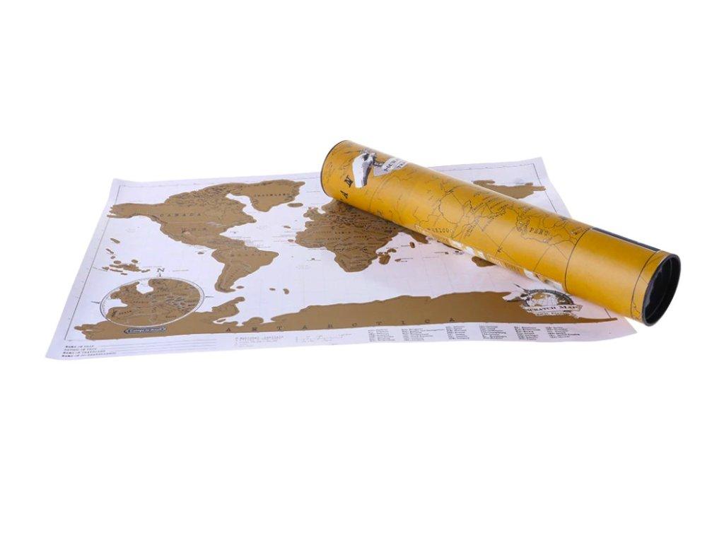 deluxe stiraci mapa sveta mala 42 x 30 cm bilo zlata 16