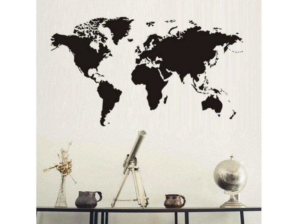 samolepka na zed mapa sveta pokoj