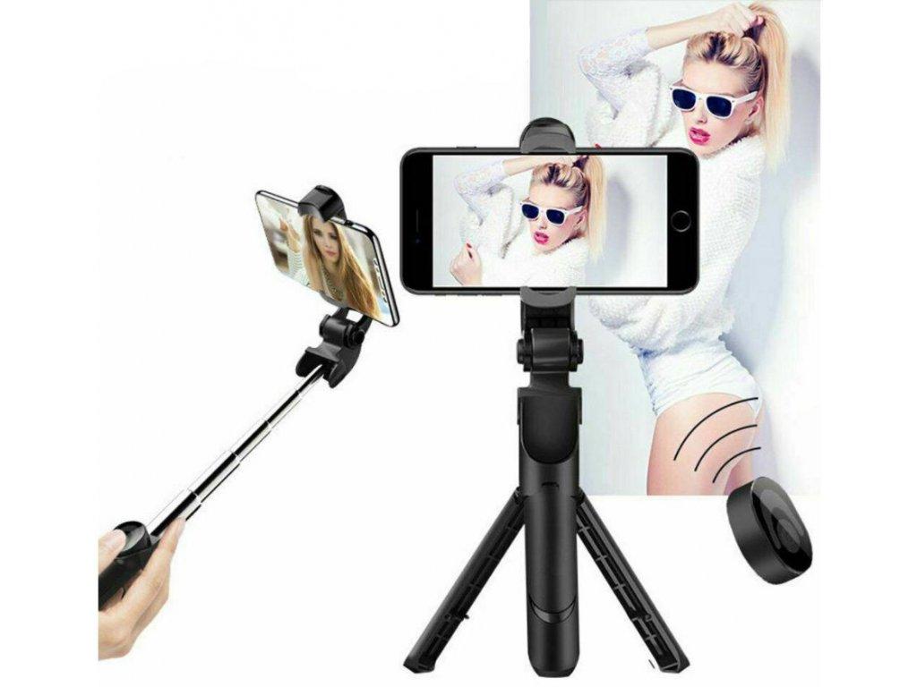 stand selfie tyc s bluetooth stativ tripod 3v1 a