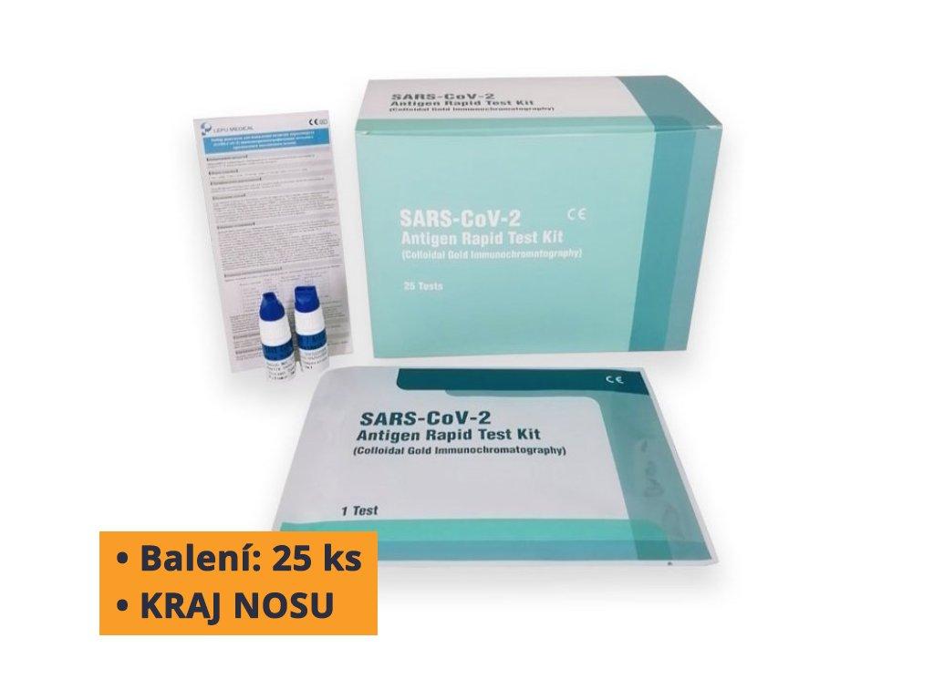 lepu antigenni test na covid 19 z okraje nosu 25 ks certifikovano mz cr 4