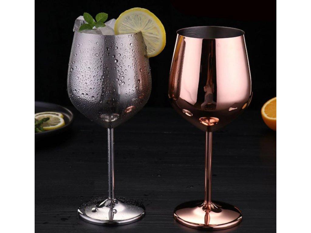 nerezova sklenicka na vino 2