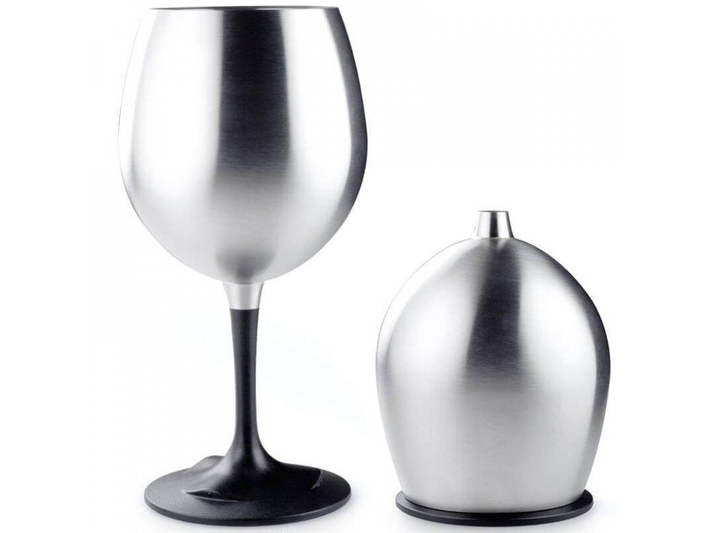 gsi nerezova sklenicka na vino skladaci cervene vino