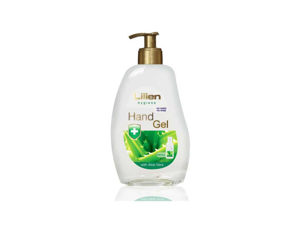 lilien dezinfekcni hand gel na ruce aloe vera 500 ml zlaty