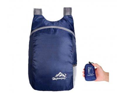 skladaci mini batoh 15 litru tmave modra