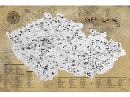 deluxe stiraci mapa cr s darkovym tubusem xl stribrna5