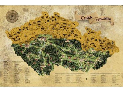 deluxe stiraci mapa cr zlata s darkovym tubusem xl 6