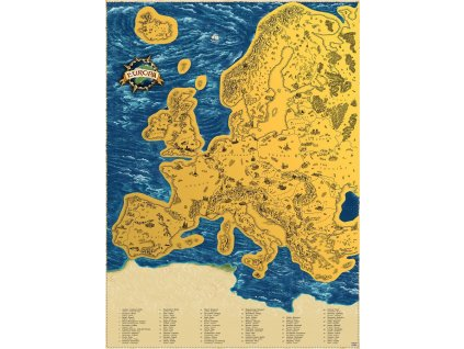 deluxe stiraci mapa evropy xl zlata 7