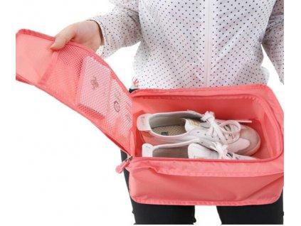 bubm cestovni organizer na boty ruzova