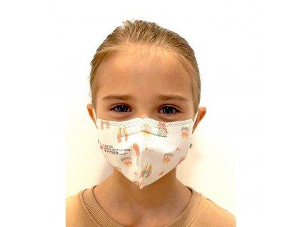 detsky respirator ffp2 kn95 s certifikaci 4 8 let holka 2