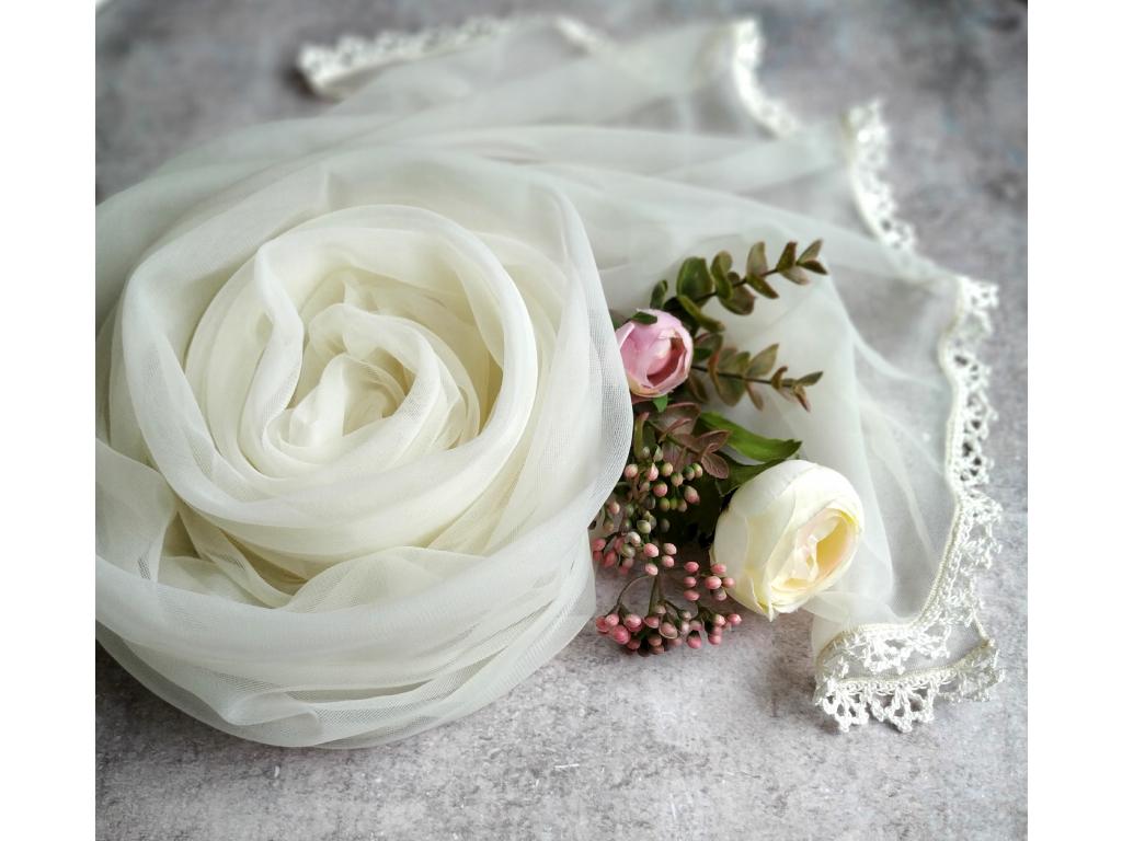 Něžný svatební / společenský šál | výběr barev