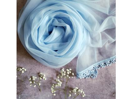 Něžný svatební / společenský šál - více barev