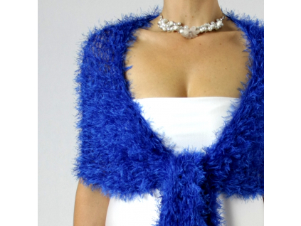 Luxusní společenská šála | modré + zelené odstíny