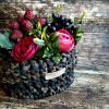 Háčkovaný košík malý | přírodní odstíny