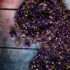 Jemná společenská šála | fialové odstíny