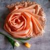 Svatební / společenský šál s krajkou | žluté + oranžové odstíny
