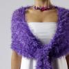 Luxusní společenská šála | fialové odstíny