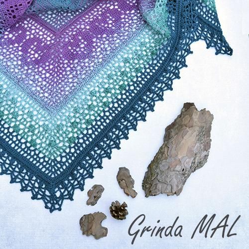 Šátek GRINDA Mal - Lilla Bjorn Crochet