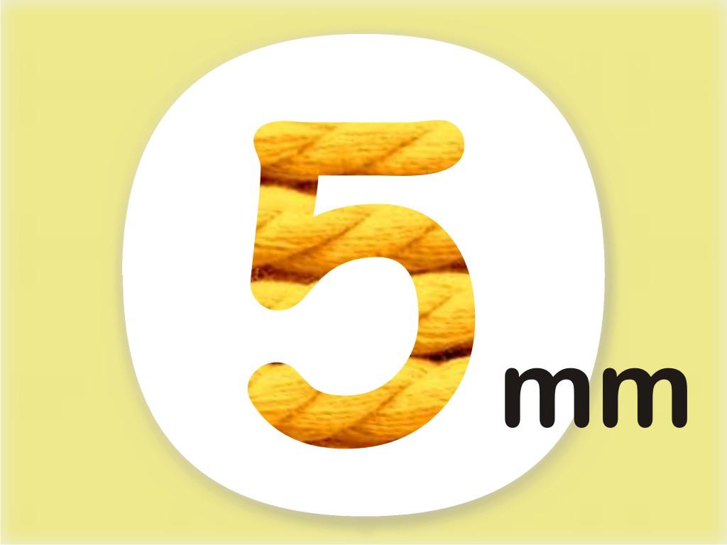 šňůry 5 mm
