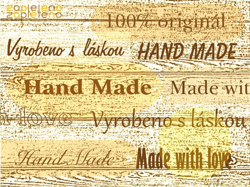 Hand made cedulky a štítky - dřevo