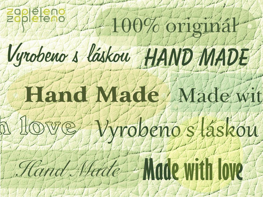 Hand made cedulky a štítky - eko-kůže