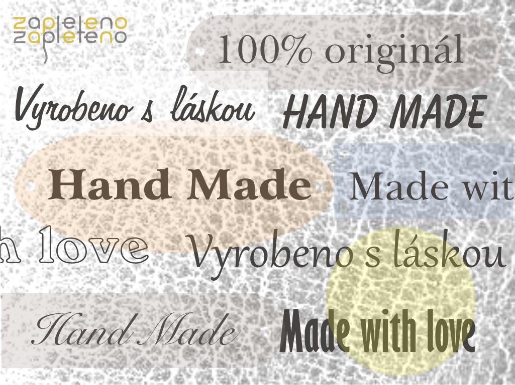 Hand made cedulky a štítky - koženka