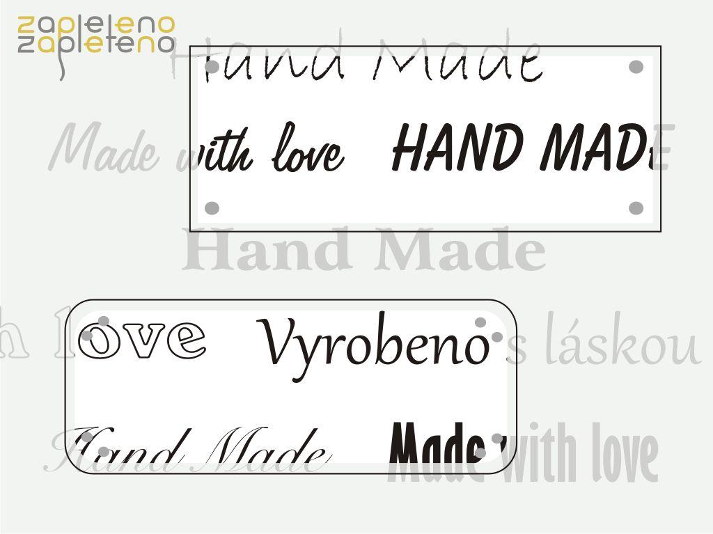 Hand made cedulky a štítky - obdélníky