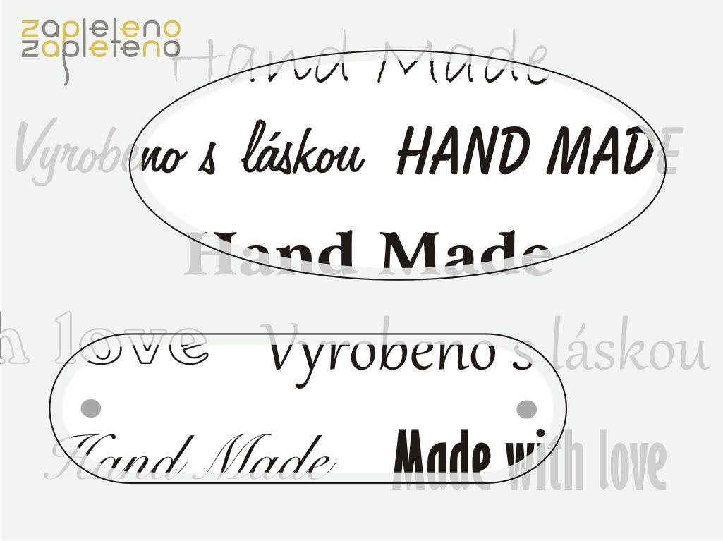 Hand made cedulky a štítky - ovály