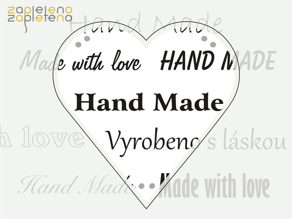 Hand made cedulky a štítky - srdce