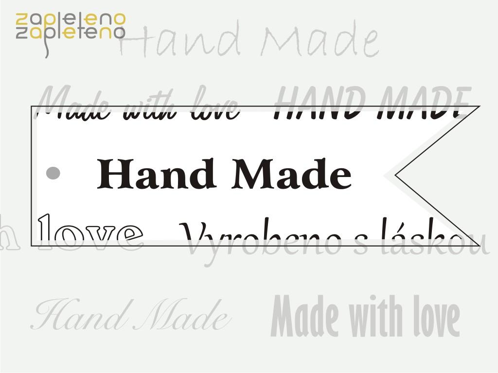Hand made cedulky a štítky - vlaječky