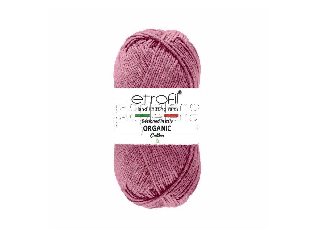 organic cotton EB001 tmave fialova