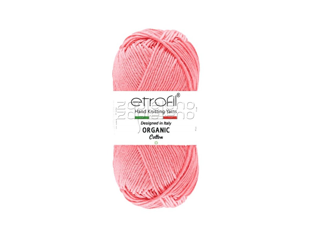 organic cotton EB004 ruzova