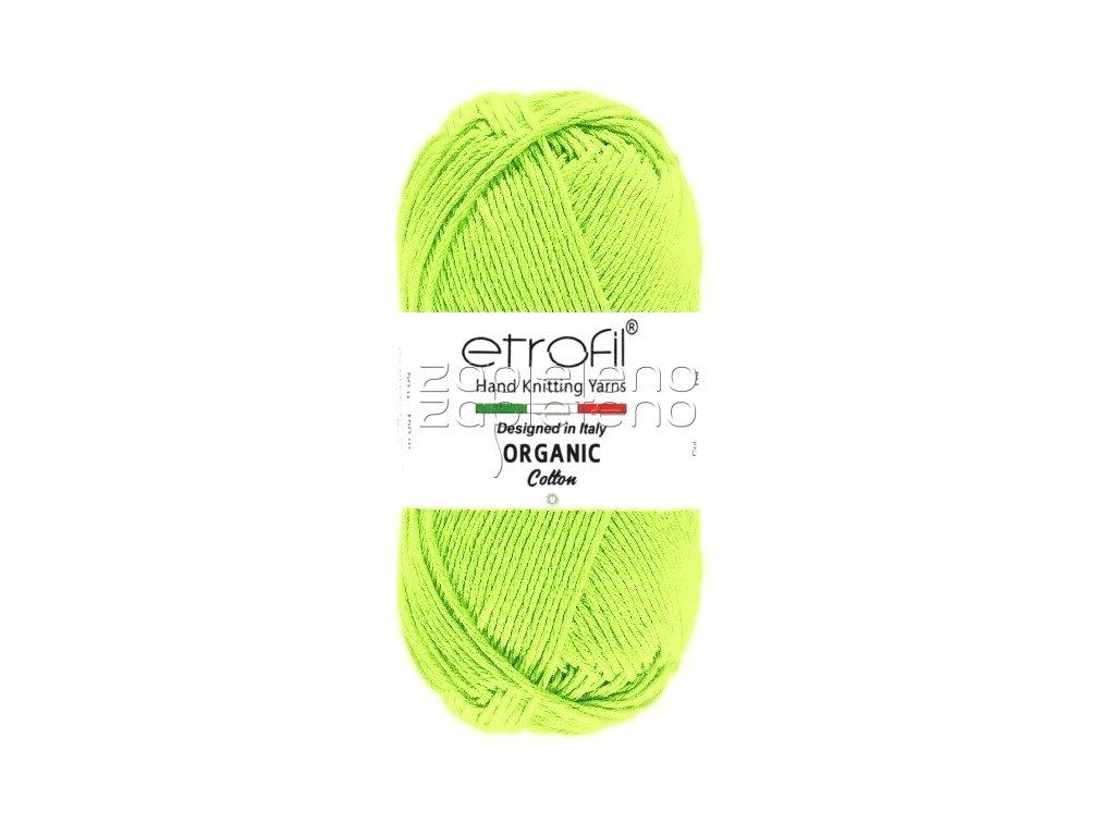 organic cotton EB009 svetle zelena