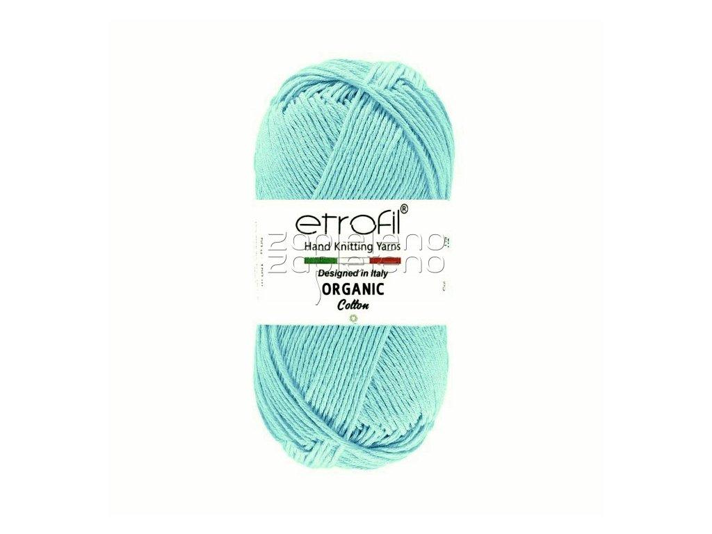 organic cotton EB011 svetla tyrkysova
