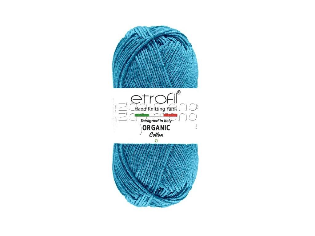 organic cotton EB013 tmava tyrkysova