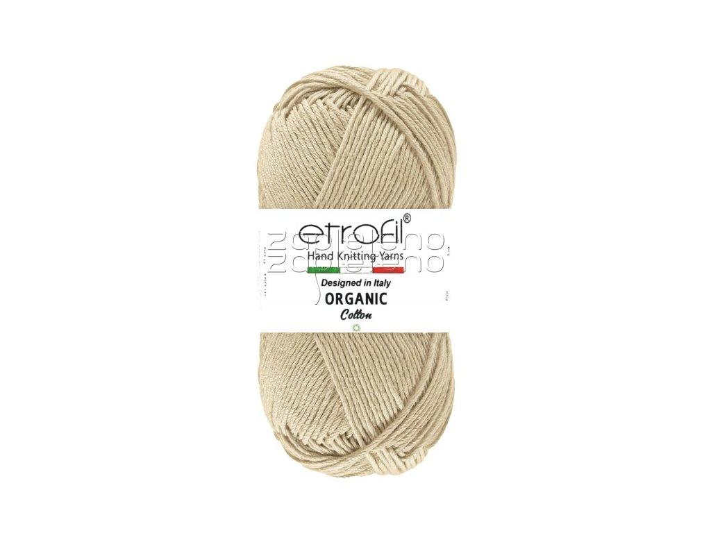 organic cotton EB014 hnedoseda