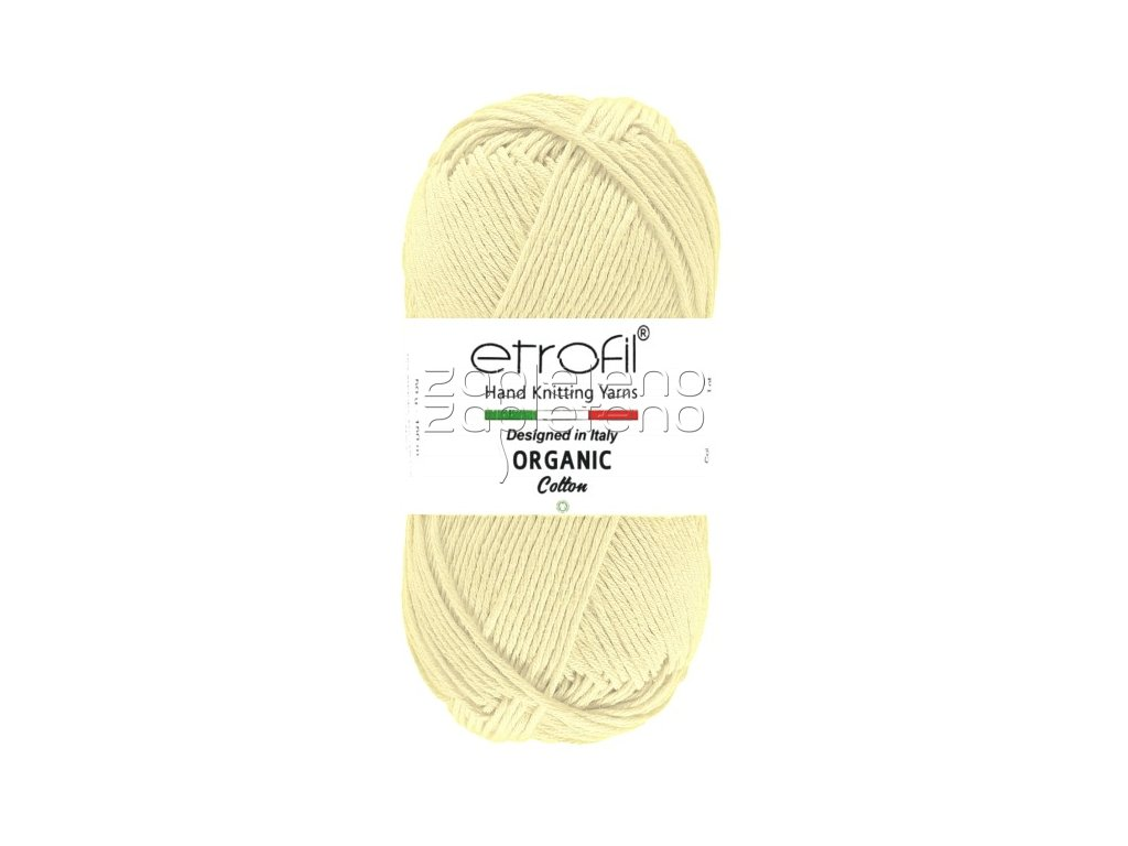 organic cotton EB016 kremova