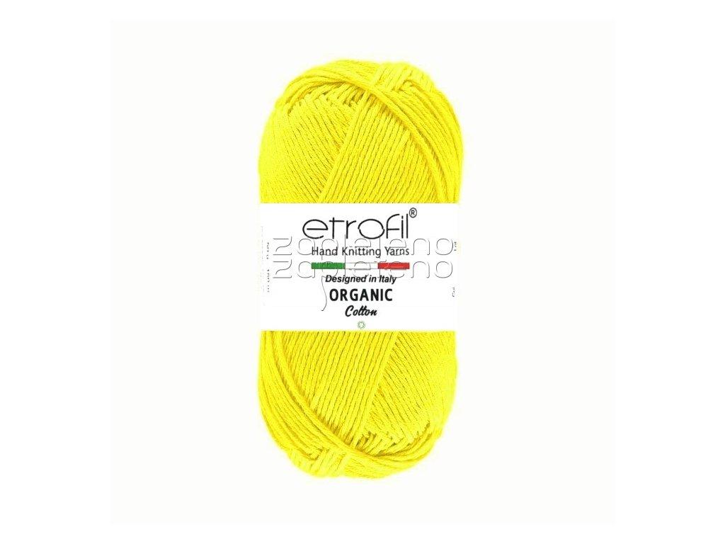 organic cotton EB018 zluta