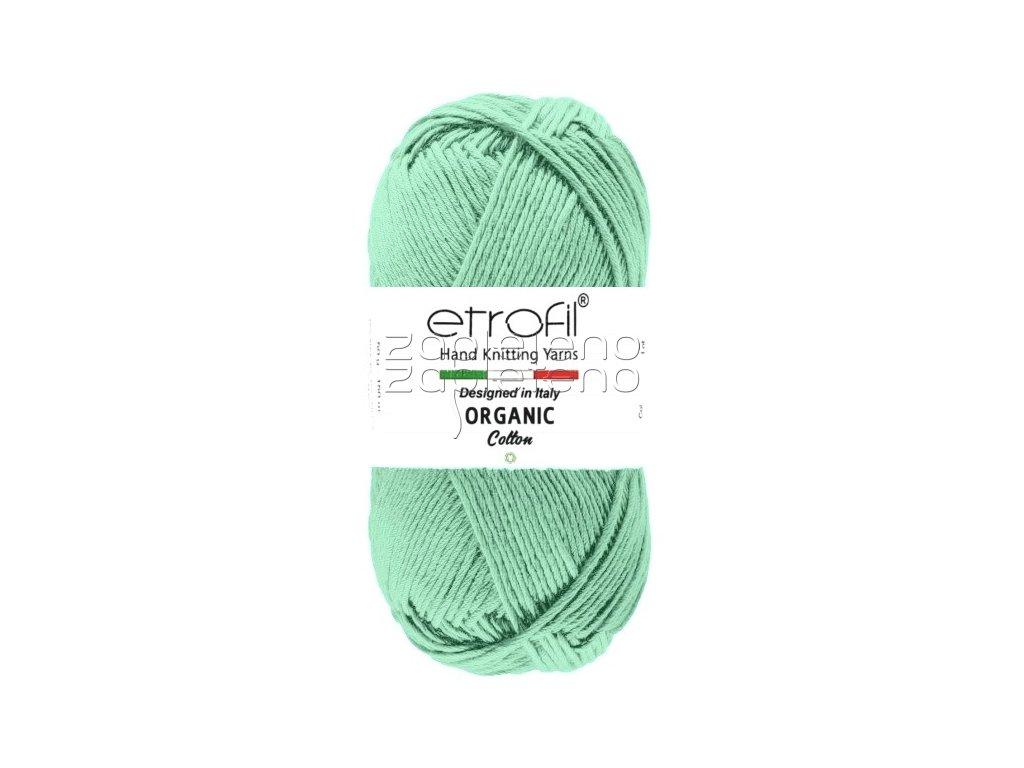 organic cotton EB026 tmava mint