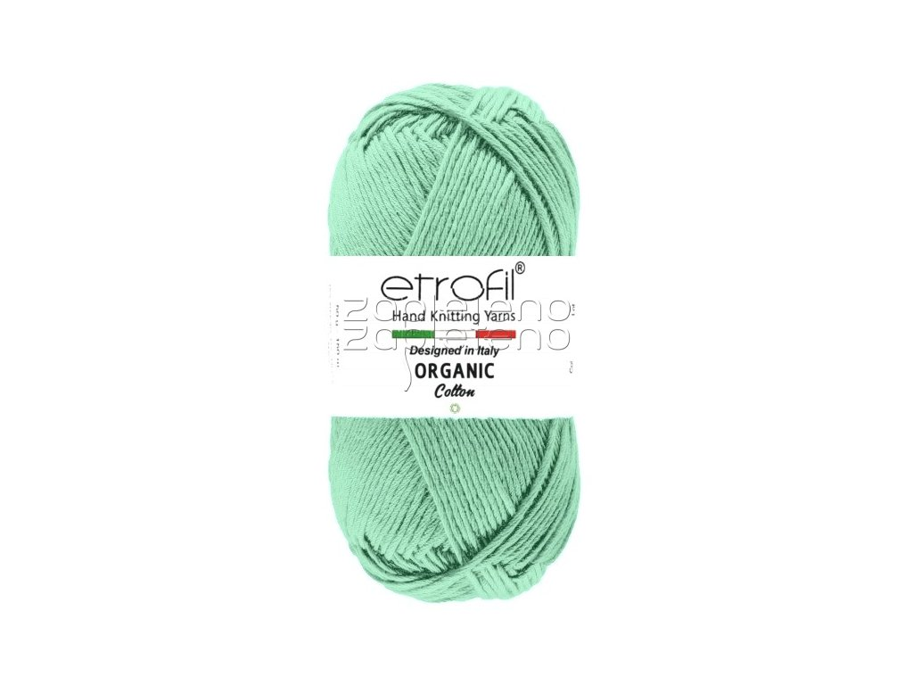 organic cotton EB026 tmava mint