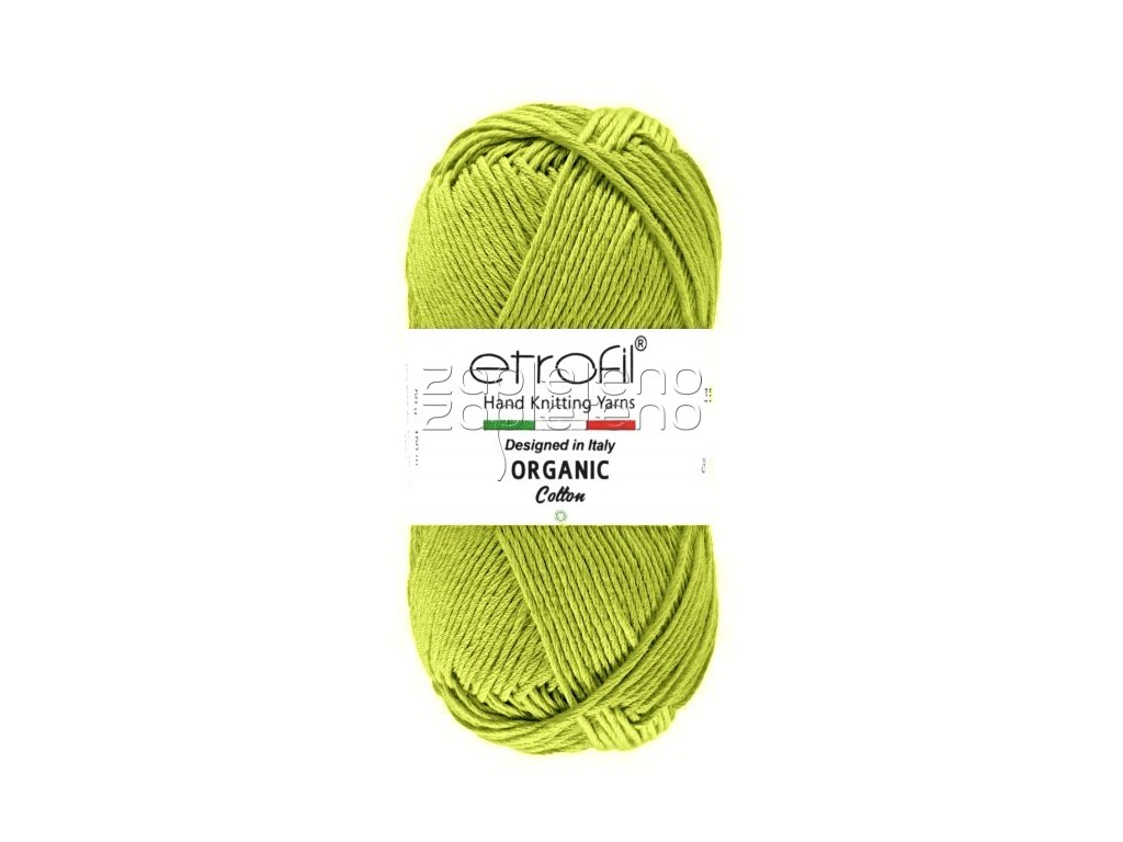 organic cotton EB027 khaki zelena
