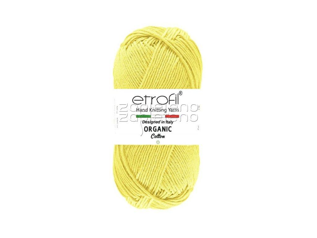 organic cotton EB028 tmava vanilkova