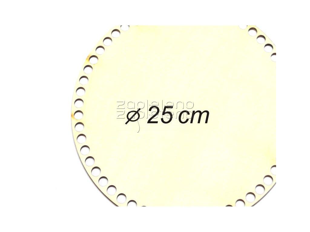 Dno kruh 25 cm topol