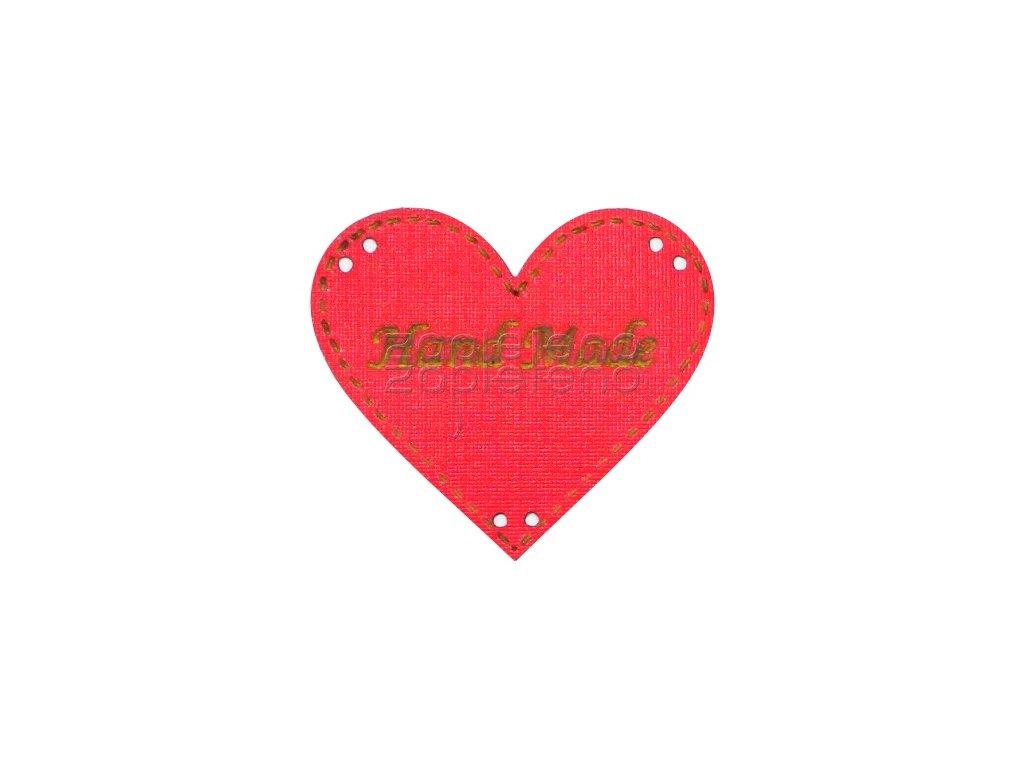 srdce Hand made cervena