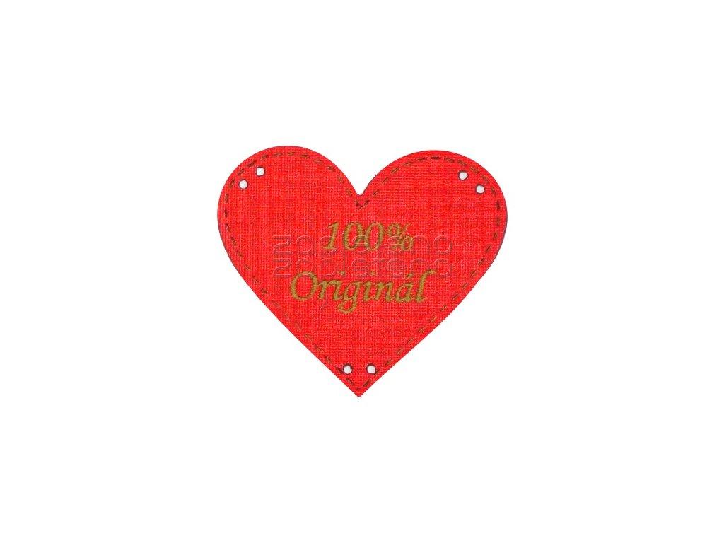 srdce original cervena