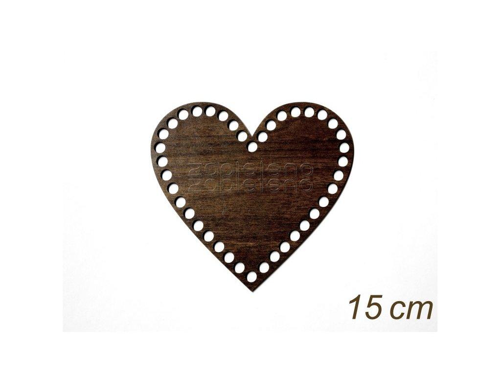 Dno srdce 15cm WALNUT