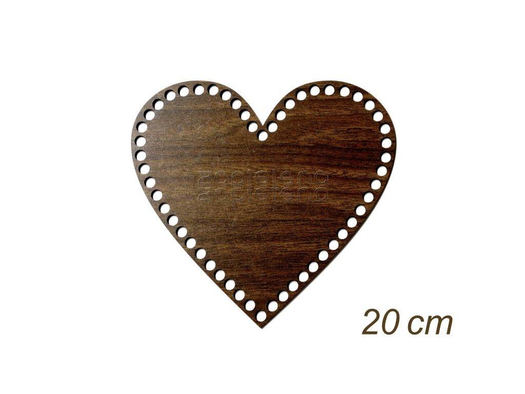 Dno srdce 20cm WALNUT