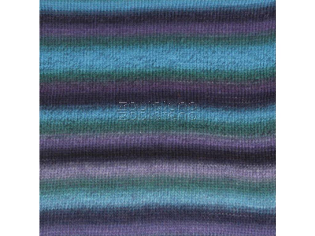 9 tyrkysová fialová print